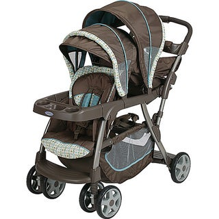 Shop Graco Ready2grow Lx Stand Amp Ride Stroller In Oasis