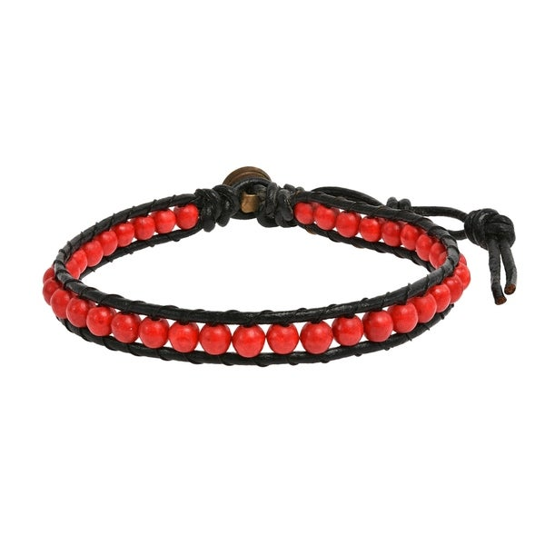 4mm Mens Genuine Leather Braided Bracelet Stainless Steel Clasp H Bs
