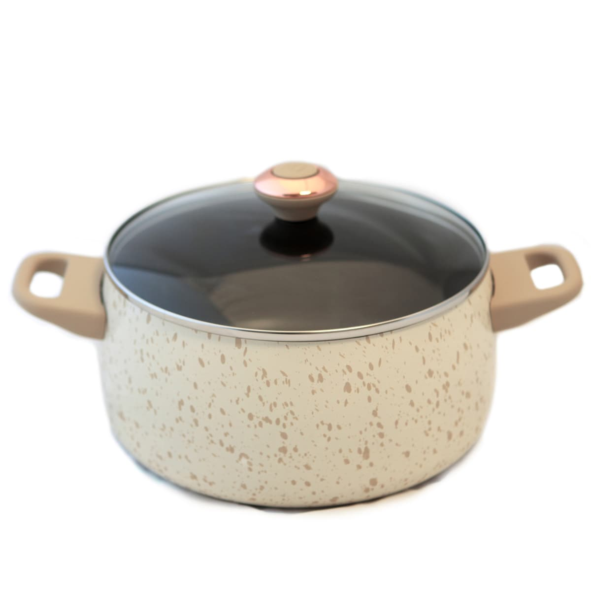 Paula Deen Signature Porcelain 'Oatmeal' 6-quart Stockpot