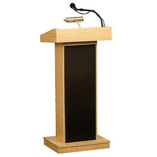 Oklahoma Sound Corporation Orator Floor Lectern with Wireless Handheld Mic (2 options available)