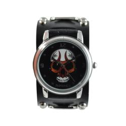 Nemesis Men's Punk Black Eyelet Skull Watch