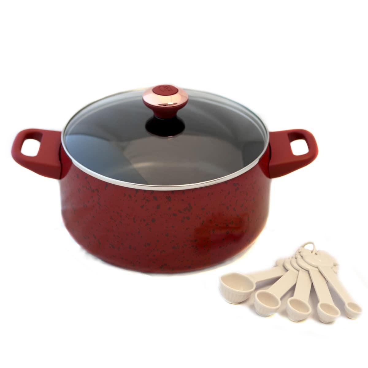 Paula Deen Signature Porcelain Red 6-quart Stockpot