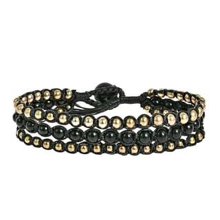 Handmade  Beads Chic Medley Three Strand Bracelet (Thailand)