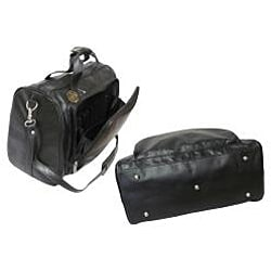 Amerileather Black 18-inch Leather Carry-on Weekend Duffel