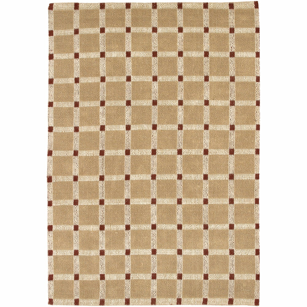 Artist's Loom Hand-woven Contemporary Geometric Natural Eco-friendly Jute Rug (2'x3') - 2' x 3'