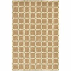 Artist's Loom Hand-woven Contemporary Geometric Natural Eco-friendly Jute Rug (2'x3')