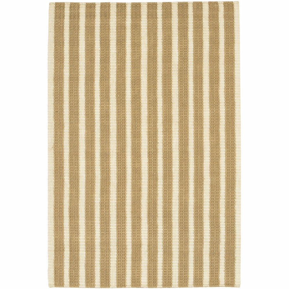 Artist's Loom Hand-woven Contemporary Stripes Natural Eco-friendly Jute Rug (7'9x10'6)