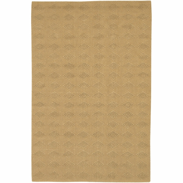 Artist's Loom Hand-woven Contemporary Geometric Natural Eco-friendly Jute Rug (2'6x7'6)
