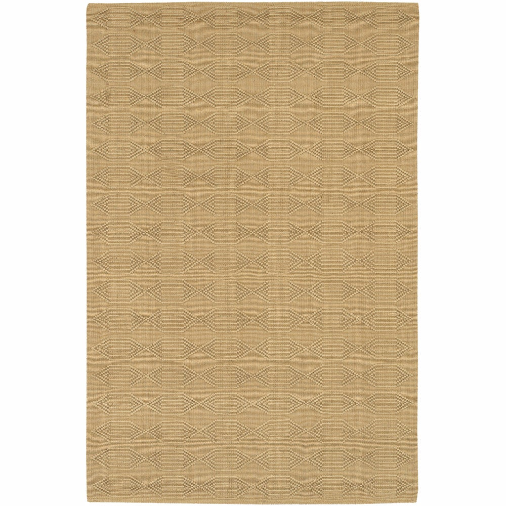 Artist's Loom Hand-woven Contemporary Geometric Natural Eco-friendly Jute Rug (5'x7'6) - 5' x 7'6