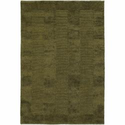 Artist's Loom Hand-woven Contemporary Geometric Natural Eco-friendly Jute Rug (7'9 Round)