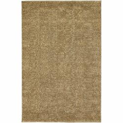 Artist's Loom Hand-woven Contemporary Geometric Natural Eco-friendly Jute Rug (5'x7'6)