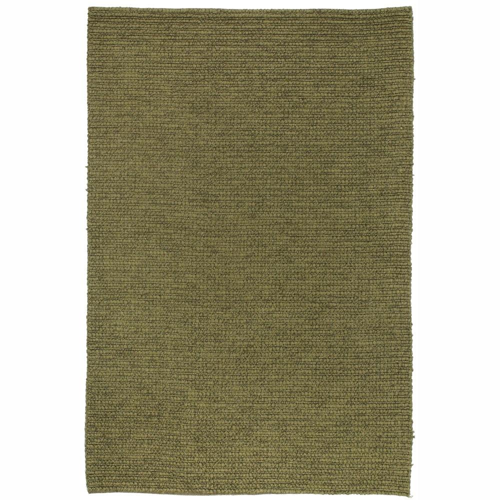 """Contemporary Handwoven Mandara Green Rug (5' x 7'6"""")"""