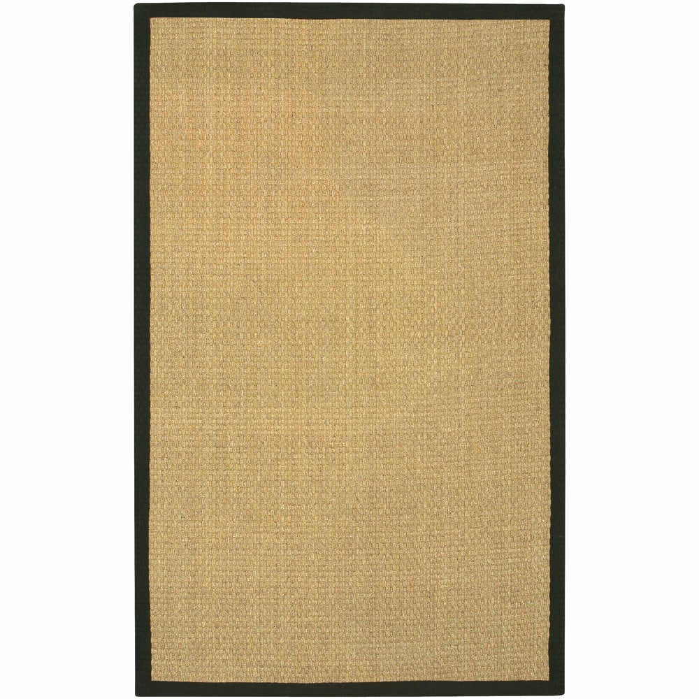 Artist's Loom Hand-woven Contemporary Border Natural Eco-friendly Seagrass Rug (8'x10')