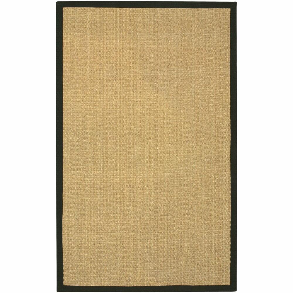 Hand-Woven Mandara Black Border Rug (9' x 13')