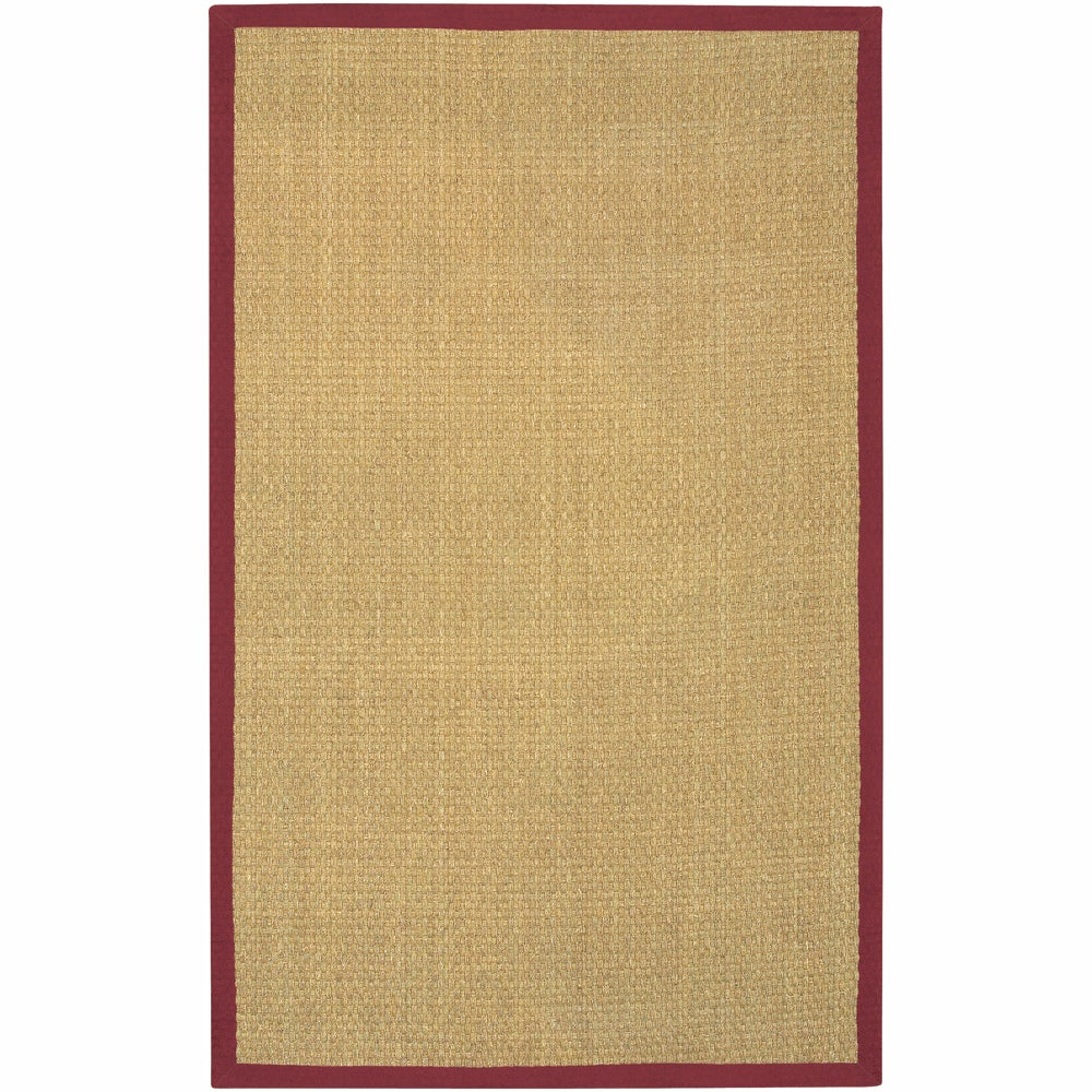 Artist's Loom Hand-woven Contemporary Border Natural Eco-friendly Seagrass Rug (5'x8') - 5' x 8'
