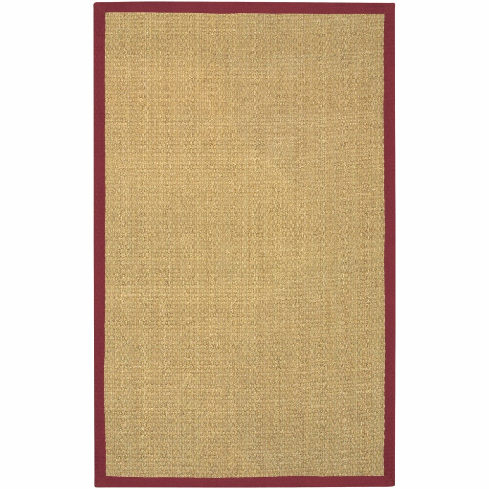 Artist's Loom Hand-woven Contemporary Border Natural Eco-friendly Seagrass Rug (9'x13')