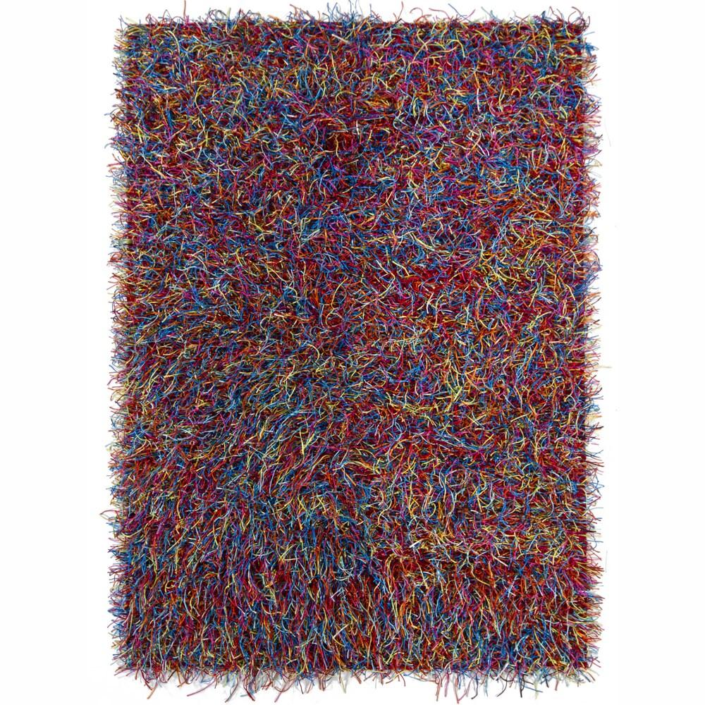 Artist's Loom Hand-woven Shag Rug (5' x 7') - 5' x 7'