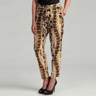 Jessica Simpson Junior's Snakeskin Print Pants