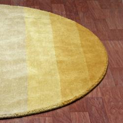 Perfect ... Hand Tufted Yellow Stripe Wool Rug (6u0027 Round)   Thumbnail 1