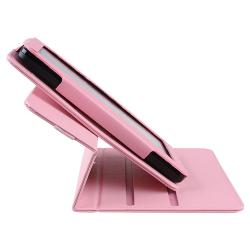 Pink 360-degree Swivel Leather Case for Amazon Kindle Fire - Thumbnail 2