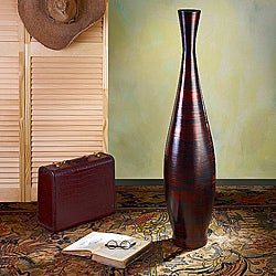 Copperworks Large Trumpet Floor Vase (Indonesia)