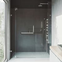 VIGO Pirouette 48-inch Pivot Shower Door Clear/Chrome