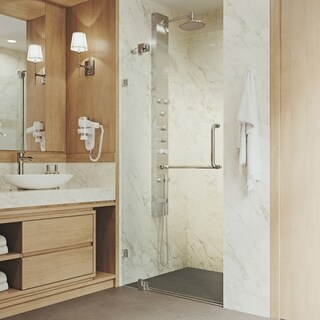 VIGO Pirouette Adjustable Frameless Pivot Shower Door