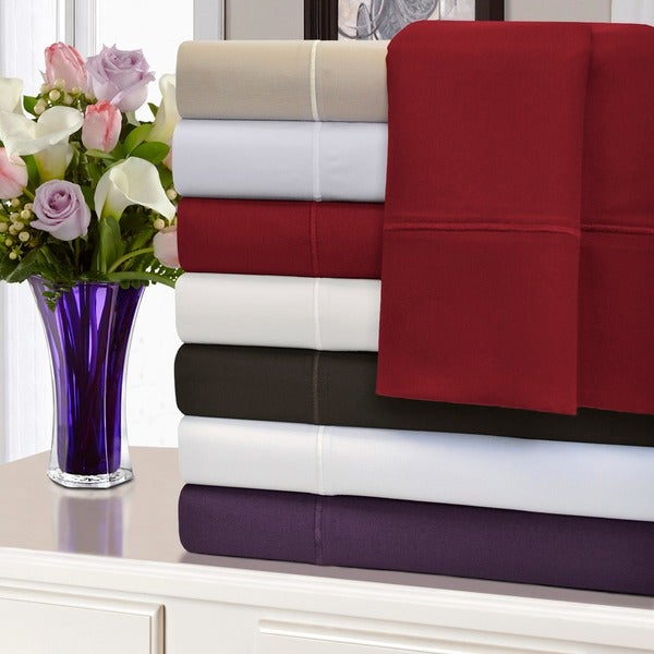 Superior 1500 Thread Count Deep Pocket Marrow Stitch Cotton Sheet Set