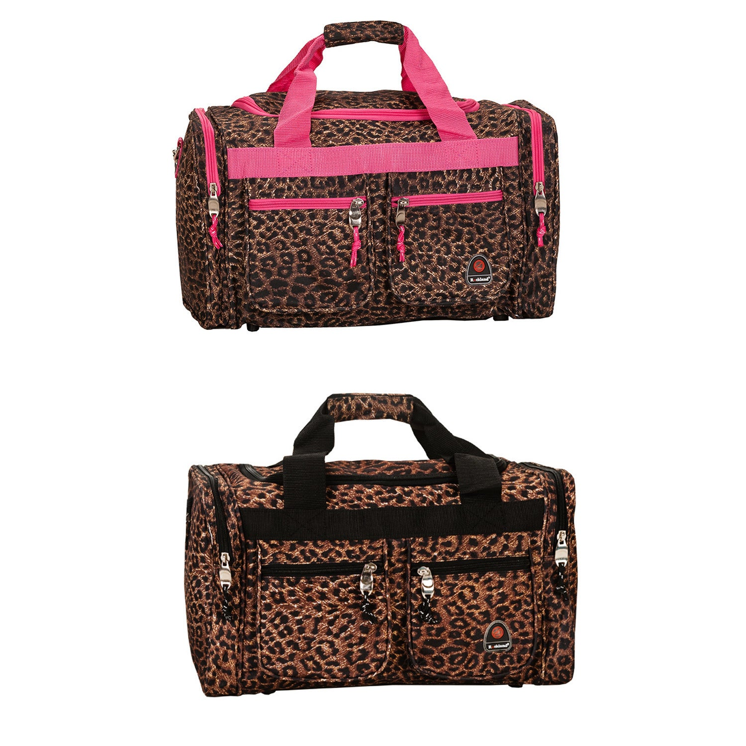 Rockland Deluxe Leopard 19-inch Carry-On Duffel Bag (Pink...