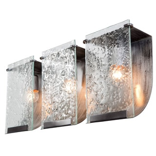 Varaluz Soho Rainy Night Hand-pressed Glass 3-light Wall Fixture