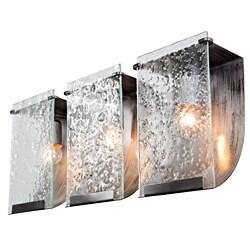 Varaluz Soho Rainy Night Hand-pressed Glass 3-light Wall Fixture
