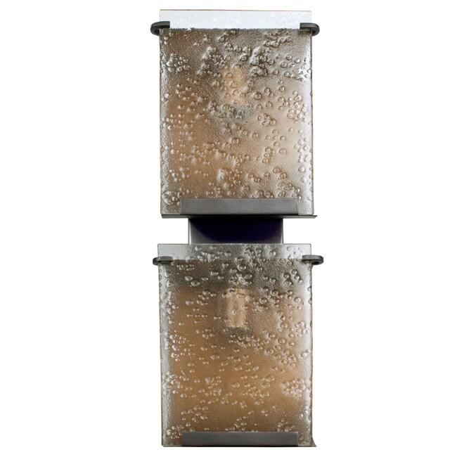 Soho Rain Drops Hammered Ore Hand-pressed Glass 2-light Wall Fixture