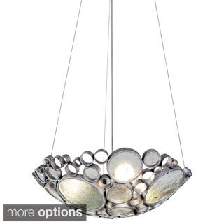 Varaluz Fascination Recycled Glass Disc 3-light Pendant