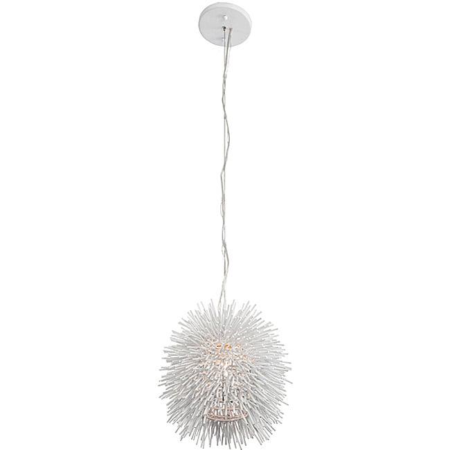 Varaluz White Urchin Mini Pendant