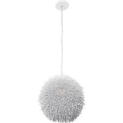Varaluz White Urchin Pendant
