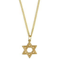 14k Yellow Gold 'Star of David' Designer Necklace
