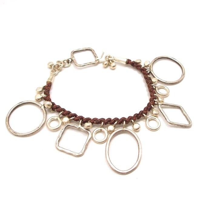 Geometric Shapes Silver Bracelet (Thailand)