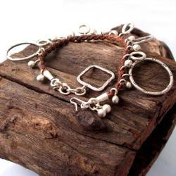 Geometric Shapes Silver Bracelet (Thailand) - Thumbnail 2