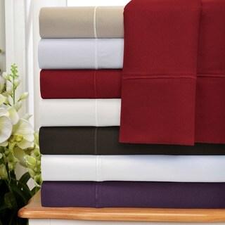 Superior 1500 Thread Count Cotton Marrow Stitch Pillowcase Set (Set of 2)