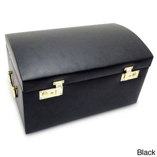 Morelle & Co Marylyn Black Leather Jewelry Chest with Velvet Lining