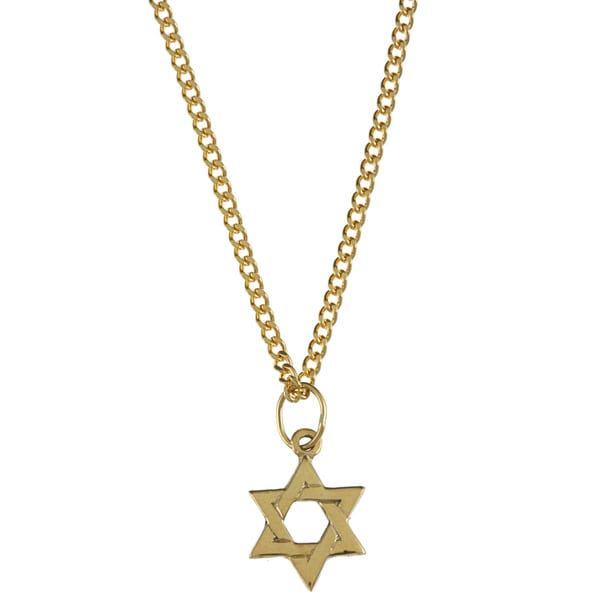 14k Yellow Gold Children's 'Star of David' Necklace