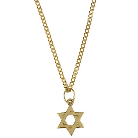 Yellow Gold Children's 'Star Of David' Necklace