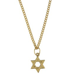 14k Yellow Gold 'Star of David' Children's Necklace