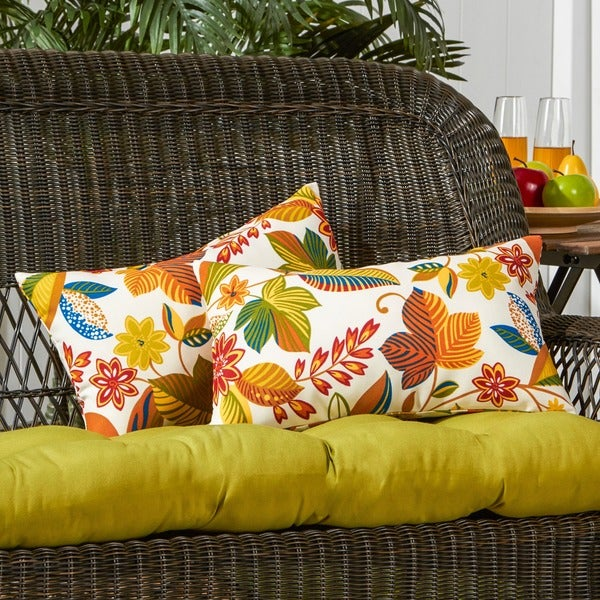 19x12-inch Rectangular Outdoor Esprit Accent Pillows (Set of 2)