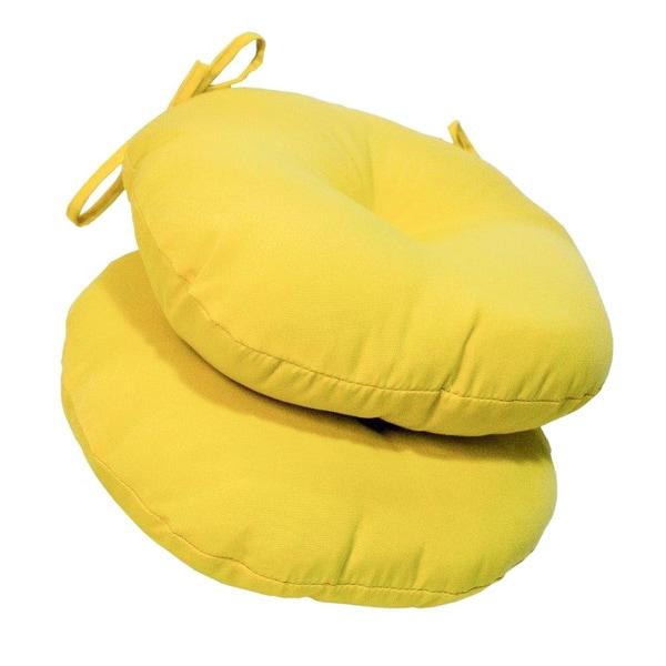 18-inch Round Outdoor Sunbeam Bistro Chair Cushion (Set of 2)