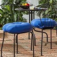 Porch & Den Rosewood Graham 18-inch Round Outdoor Marine Blue Bistro Chair Cushion (Set of 2)