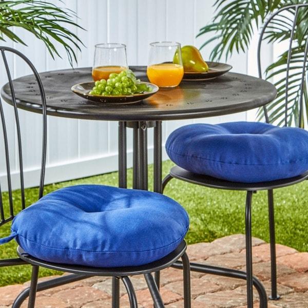 15 inch round outdoor marine blue bistro chair cushions