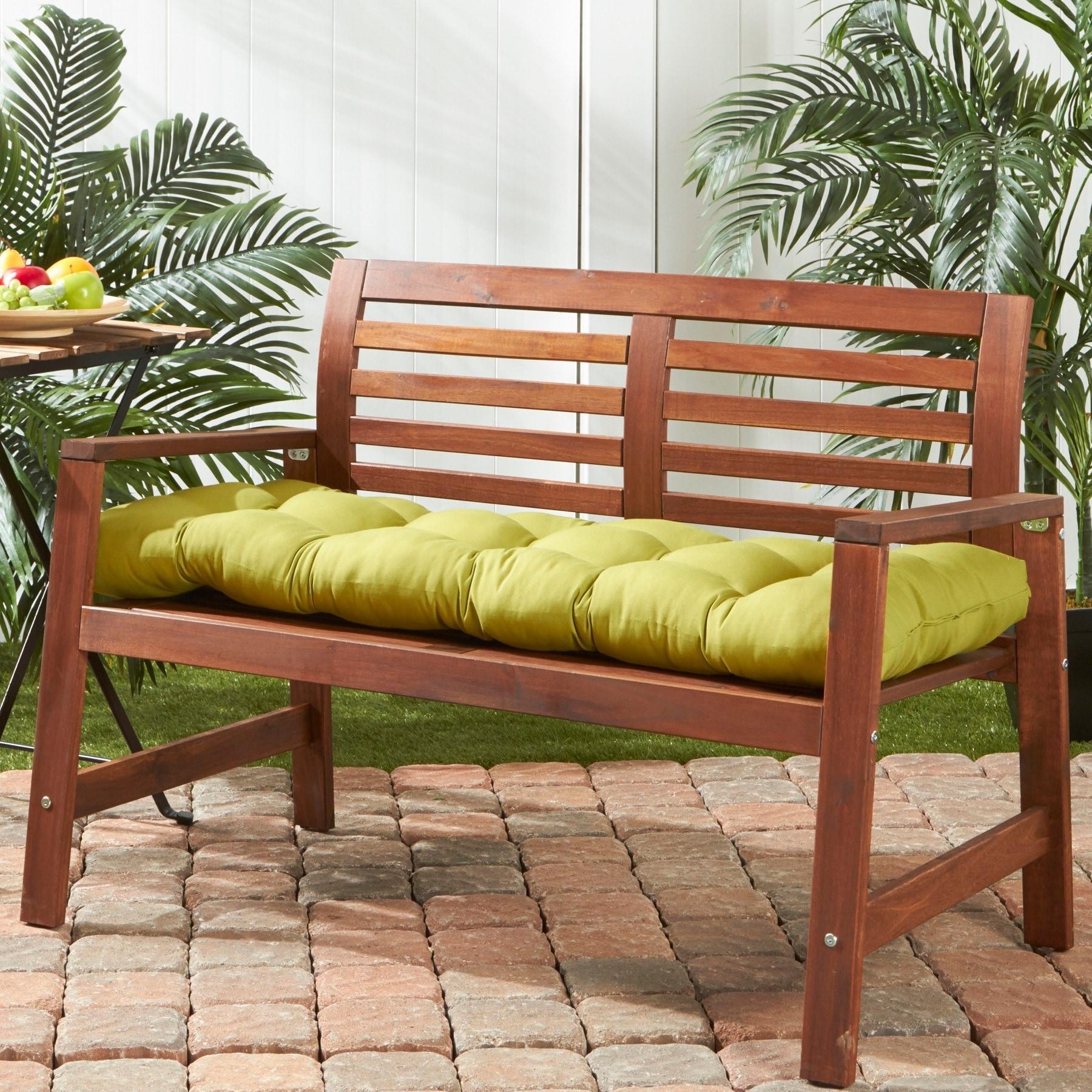 Shop Greendale Home Fashions Outdoor Kiwi Bench Cushion 18w X 51l