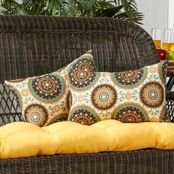 19x12-inch Rectangular Outdoor Spray Accent Pillows (Set of 2)