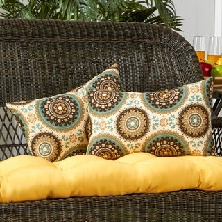 Porch & Den Rosewood Coleto 19x12-inch Rectangular Outdoor Accent Pillows (Set of 2)